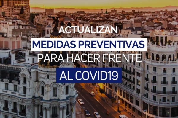 Medidas preventivas en Madrid