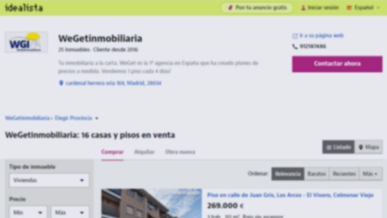 Idealista destaca a WeGet como agencia inmobiliaria en Madrid norte